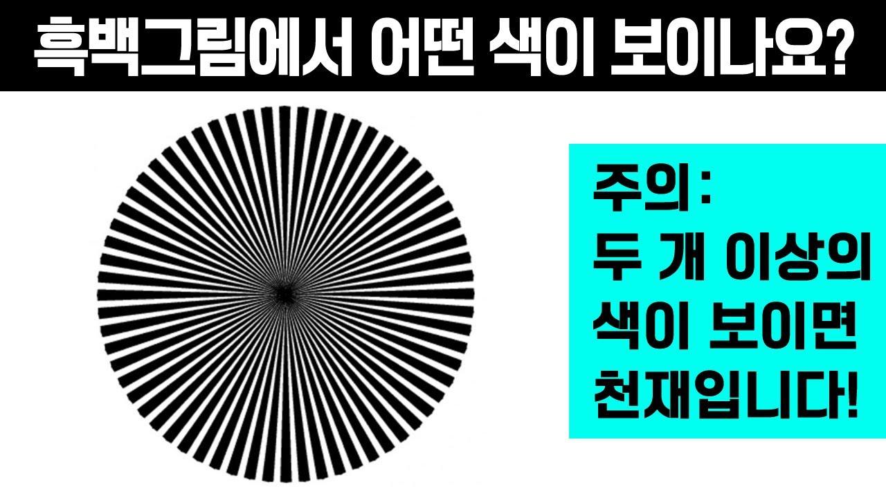 [성격테스트] 흑백그림에서 색이 보이면 성격도 보입니다