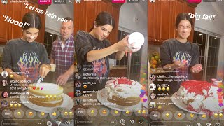 Charli Damelio makes a birthday cake for her mom on live but FAILS *crys*  FULL VIDEO