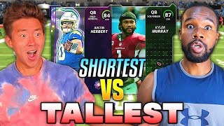 TALLEST VS SHORTEST PLAYER DRAFT! Madden 22