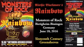 Ritchie Blackmore's Rainbow - Sixteenth Century Greensleeves - Monsters of Rock (June 18, 2016)