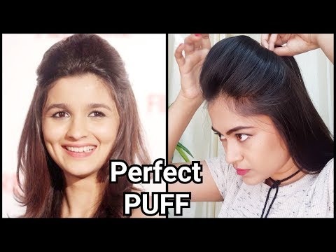Perfect broad PUFF for party//Indian festive hairstyles//Alia bhatt puff hairstyle