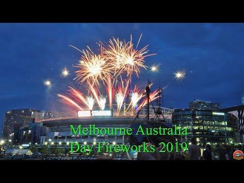 Melbourne Australia Day Fireworks 2019