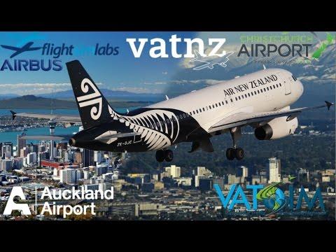 FSLabs A320 on Vatsim, Auckland NZAA to Christchurch NZCH FTX-NZ