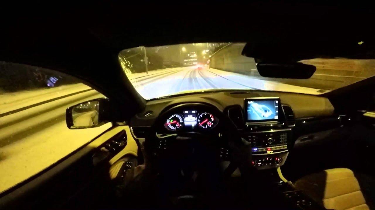 Mercedes Gle 350 4matic >> 2016 GLE Coupe 350d POV snow night drive - YouTube