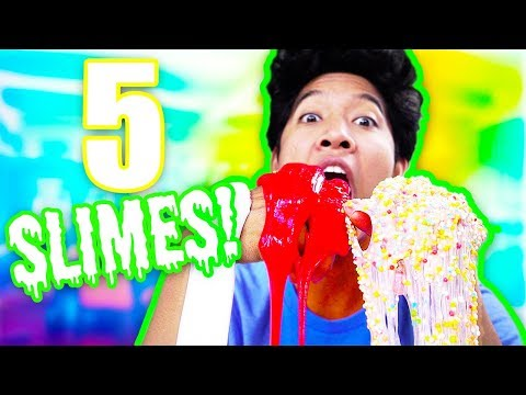 TESTING 5 Satisfying Slimes!!! NAIL OR FAIL!?