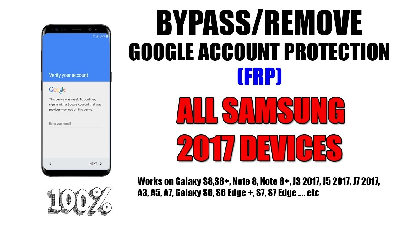 Bypass/Remove FRP Google Account On All Samsung Devices