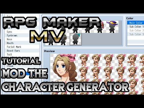 RPG Maker MV Tutorial: Mod The Character Generator!
