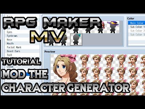RPG Maker MV Tutorial: Mod The Character Generator! - YouTube