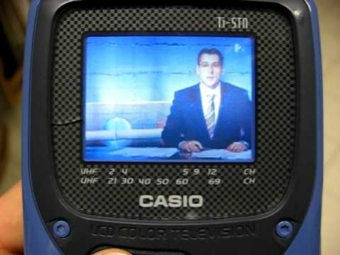 CASIO mini LCD TV - YouTube