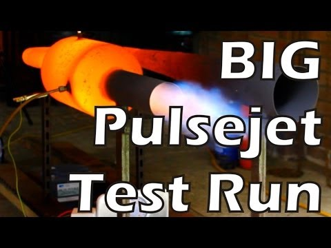 Big Pulsejet Test Run