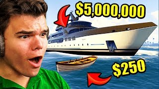 CHEAPEST vs. Most EXPENSIVE Boat In GTA 5! thumbnail
