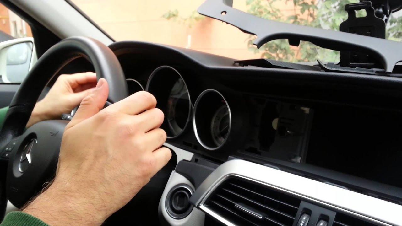 W 204 Mercedes c180 : Dashboard rattle problem and repair,ön konsolun  tıkırtı sorunu ve tamiri