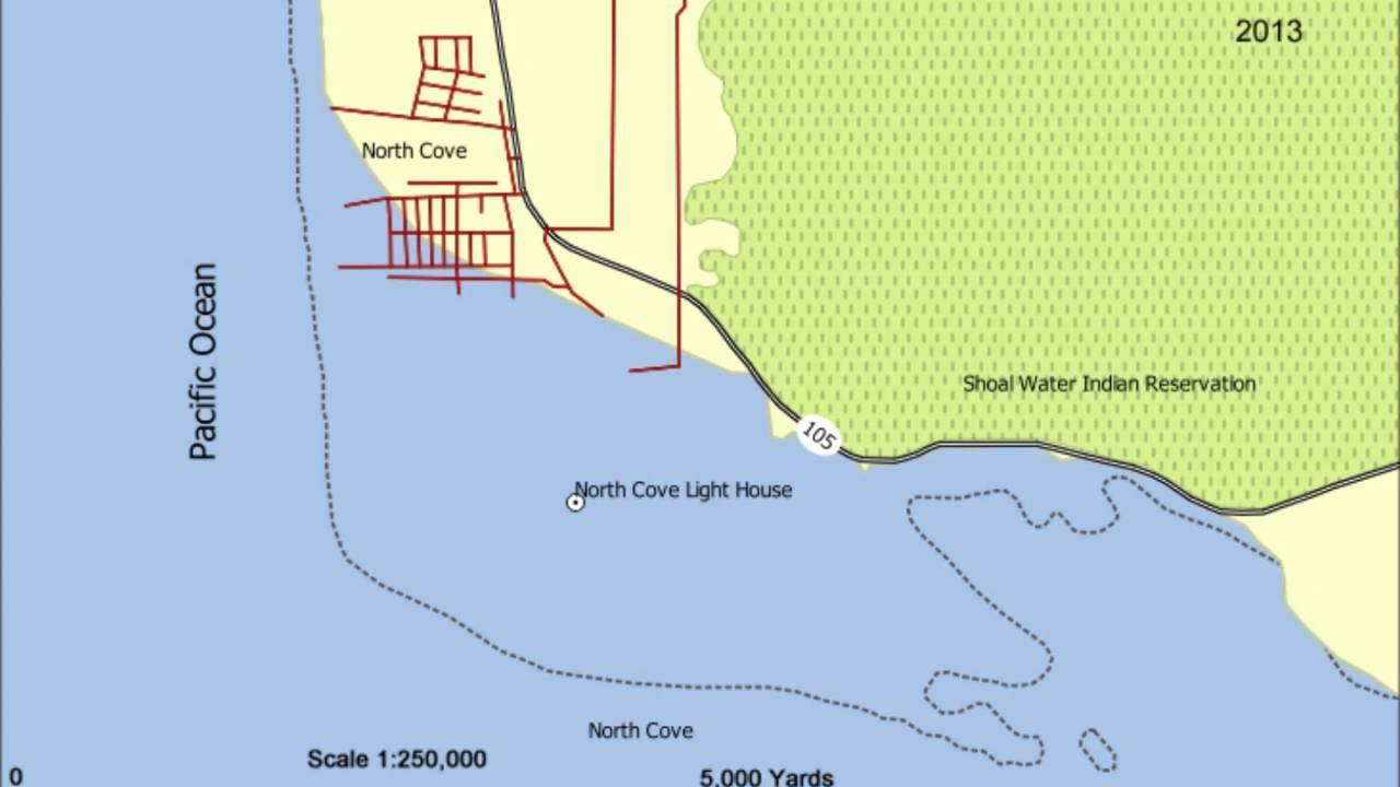 North Cove, WA Erosion - YouTube