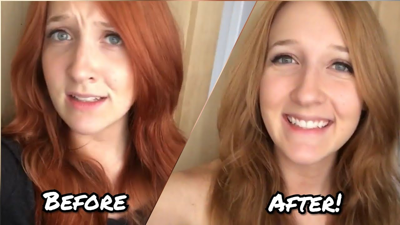 Removingfading Red Hair Dye At Home Youtube