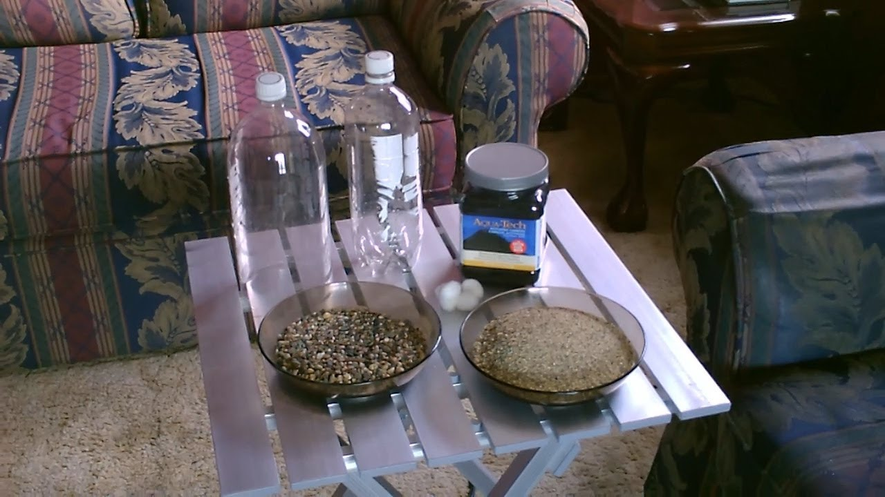Homemade Water Filter DIY water filtration clearclean water
