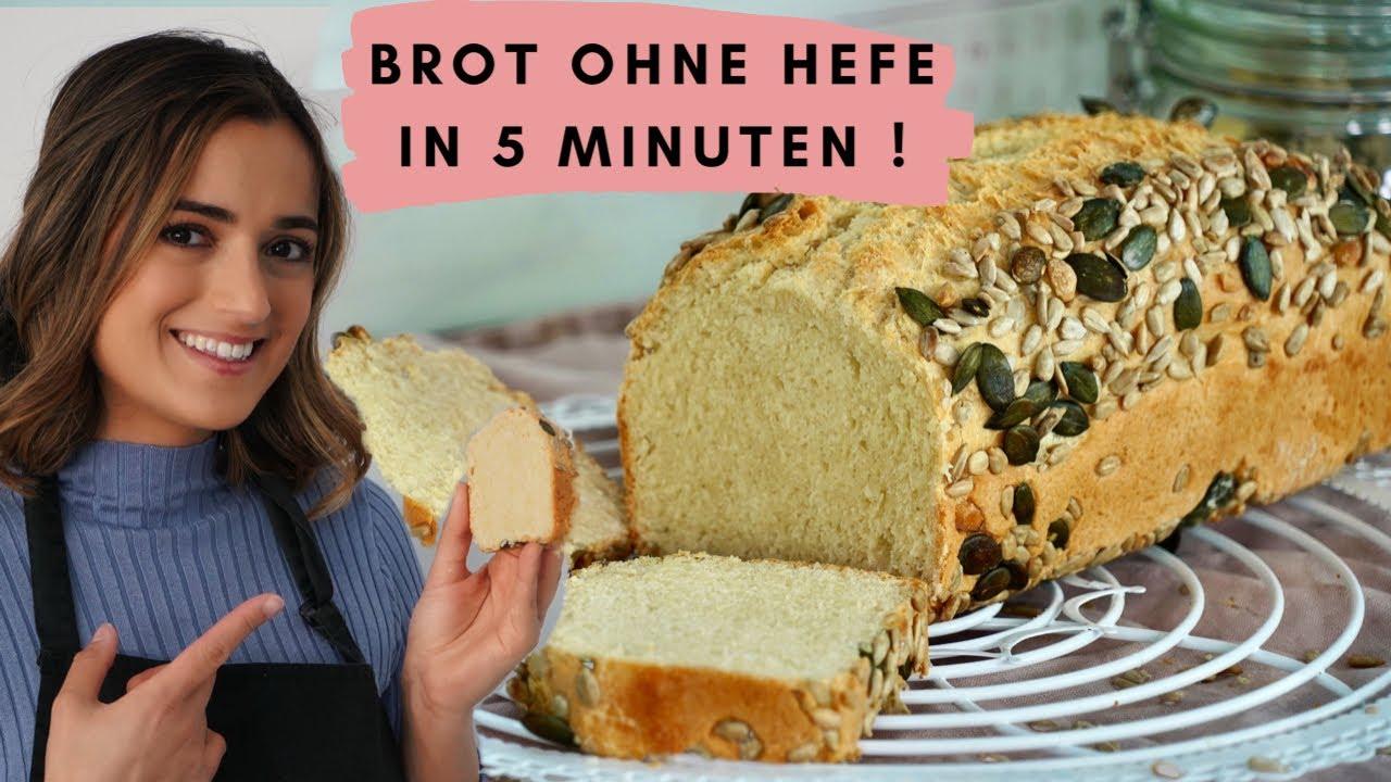 Download Brot ohne Hefe in nur 5 Minuten OHNE Gehzeit / Zauberbrot / 40 Minuten MIT Backzeit / Dinkelbrot