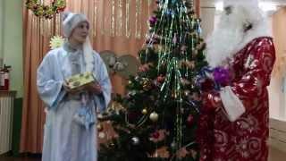 Новогодний утренник 2015. Снеговик и танец конфеток.