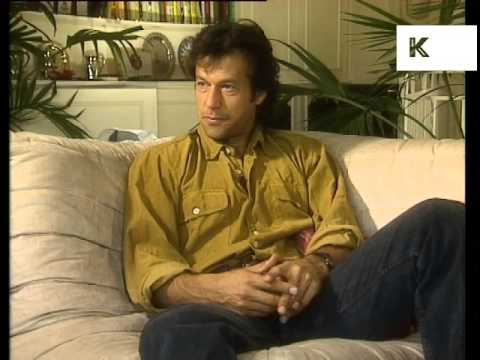 1990s Interview, Cricketer Imran Khan at Home