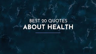 Meet the selection of well-aimed quotes about health from our leading experts. program includes expressions such outstanding and powerful leaders as...