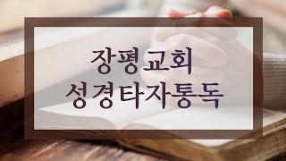 장평교회 성경타자통독