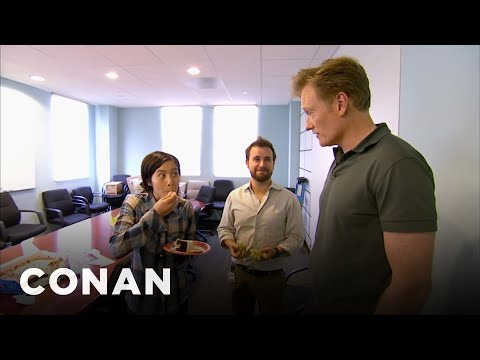 Thumbnail: Conan Busts His Employees Eating Cake - CONAN on TBS