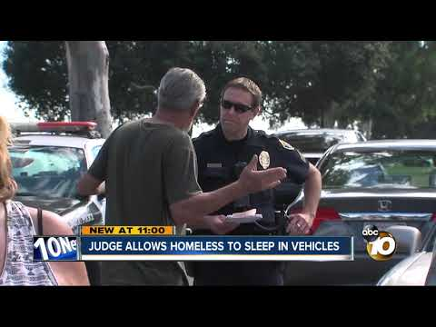 Judge allows homeless to sleep in vehicles