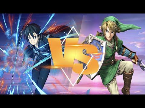 Kirito VS Link (Sprite Animation) (Sword Art Online X Legend Of Zelda)