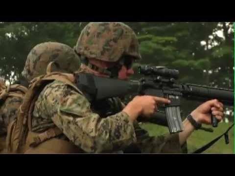 Marines Shoot M16A4 Assault Rifles at Camp Fuji