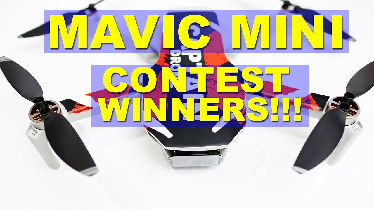 WINNERS announced for the Contest - Win two DJI Mavic Mini Drones
