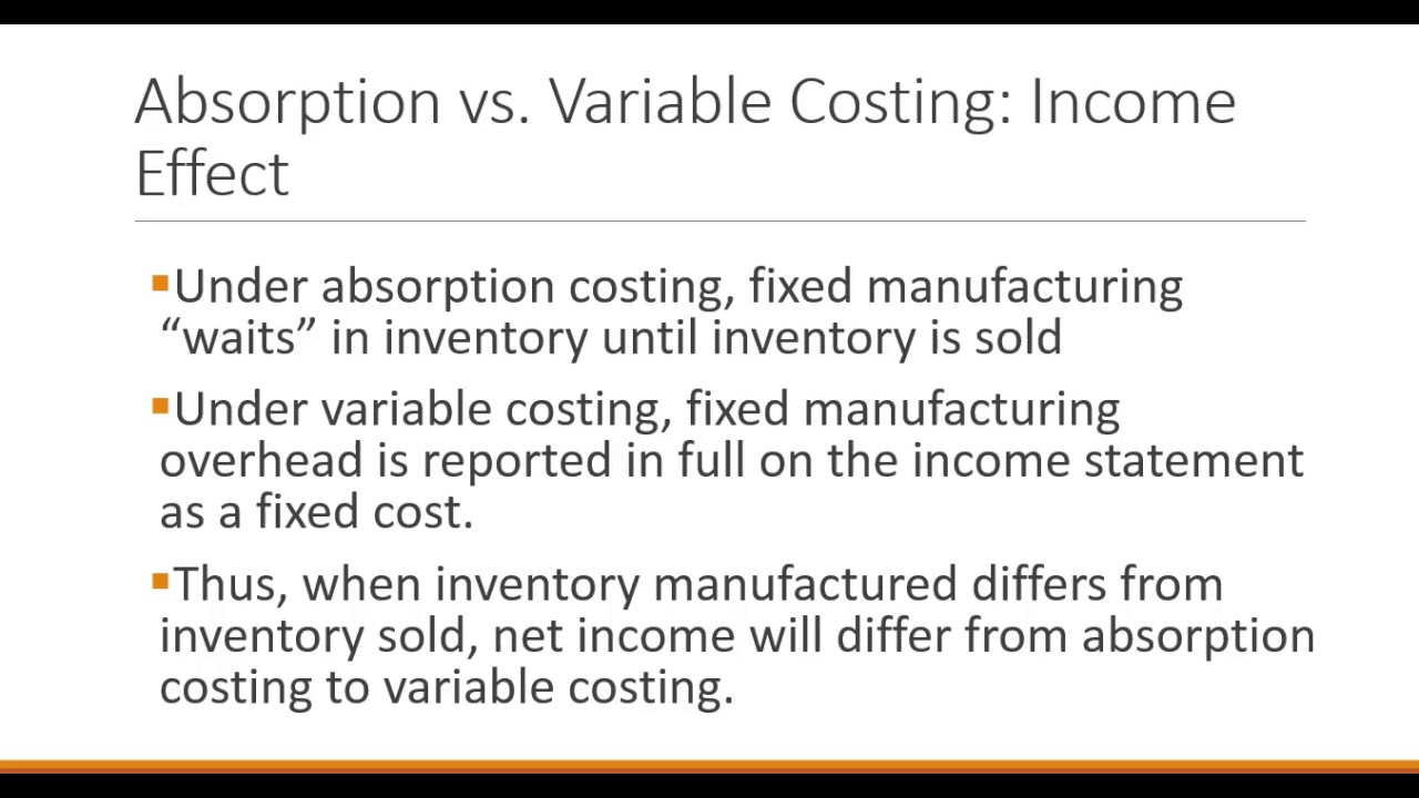 marginal costing in management accounting