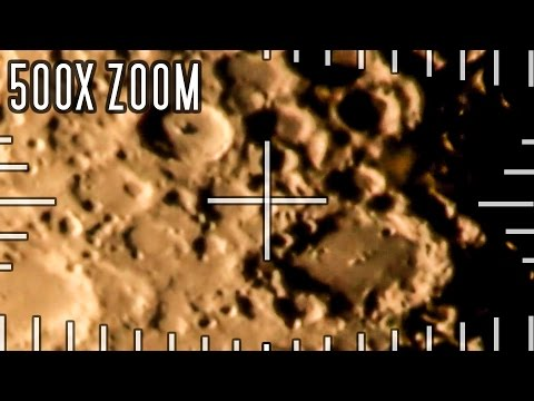 Mega zoom in on the moon - 500x