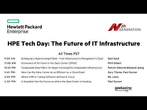 HPE Tech Day: The Future of IT Infrastructure