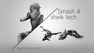 Smash 4 Sheik tech: N-air to Bouncing Fish