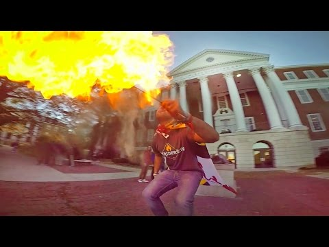 Fire Breathing - University of Maryland College Park - Bullet Time Effect
