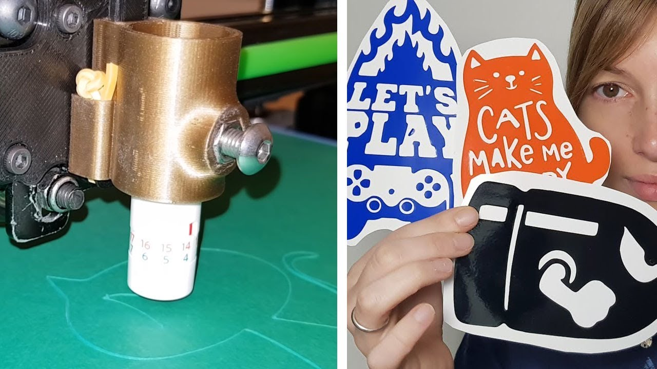 fabriquer ses propres stickers avec une imprimante 3d. Black Bedroom Furniture Sets. Home Design Ideas