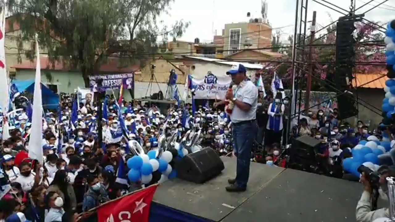 Cierre de campaña del MAS en Tarija.