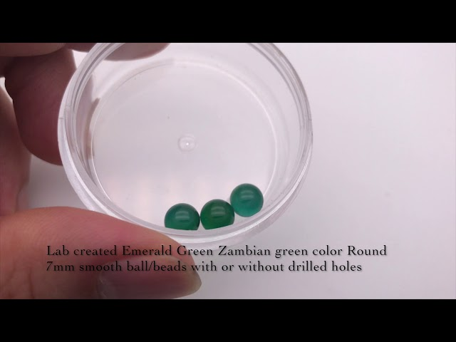 Lab Created Emerald Green Round 7mm beads balls Wholesale and suppliers