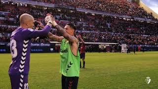 Celebración del triunfo ante el Deportivo Alavés
