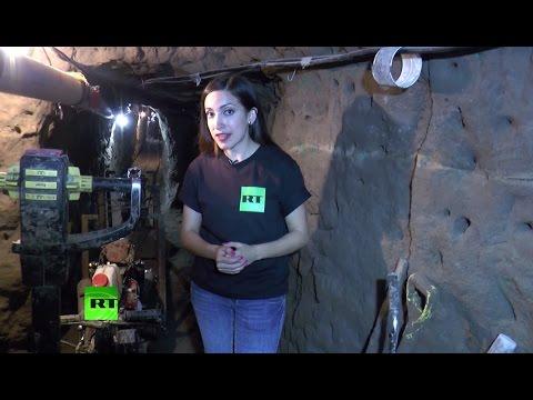 Эксклюзив: корреспондент RT прошла по туннелю, по которому сбежал наркобарон Эль Чапо