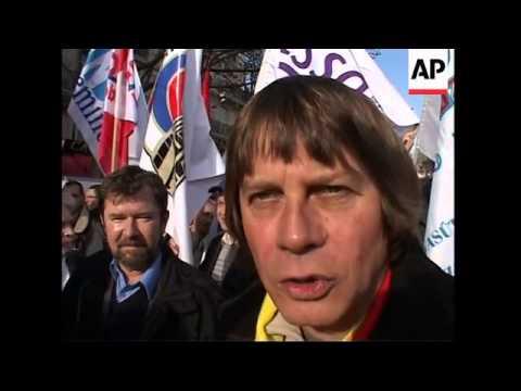 European unions protest plans to privatise European rail network