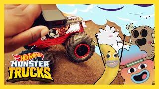 Monster Trucks And Cartoon Network Team Up | Monster Trucks | Hot Wheels