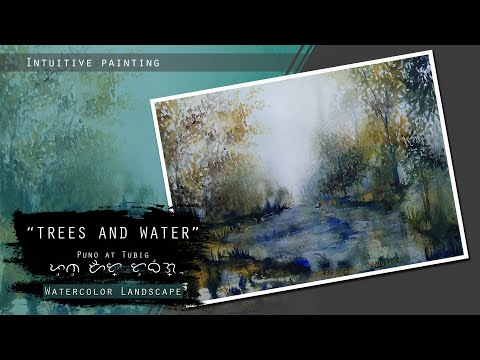 Misty Lake | Loose Transparent Watercolor  Demonstration | Intuitive Painting