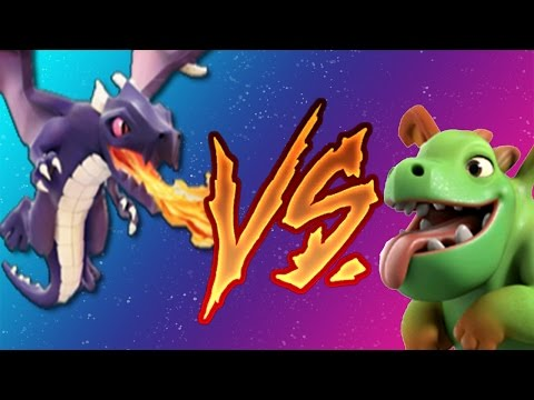 13 x Dragons vs 27 x Baby Dragons | Mass Dragon vs Mass Baby Dragon | Clash of Clans