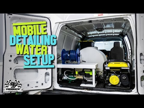 Our Mobile Auto Detailing Water Tank Setup