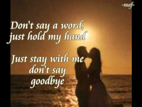 Eddie Peregrina -- DON'T SAY GOODBYE with Lyrics
