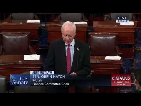 Senator Hatch Speaks Again on Critical Antitrust Issues