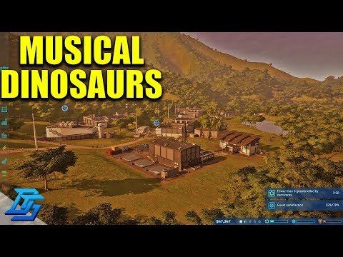 DINOSAUR MUSICAL CHAIRS! - Jurassic World Evolution - Pt 6