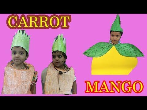 #diy MANGO CARROT fruit rhymes play class kids #rhymes#kids #playclass #nursery