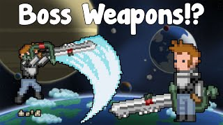 Repeat youtube video Boss Weapons! Unique Boss Drops! - Starbound Guide Nightly - GullofDoom