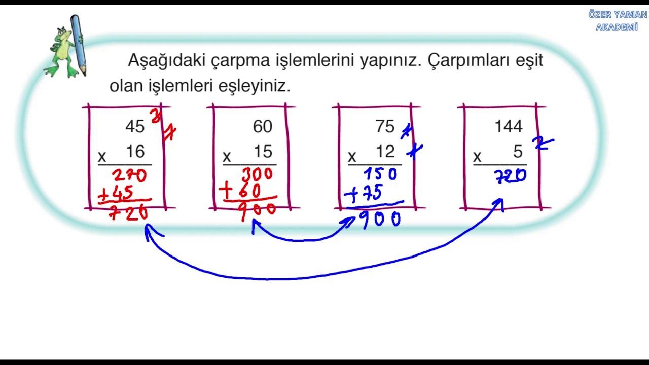 3 Sinif Matematik Sayfa 116 117 Ogrendiklerimizi Uygulayalim Ada